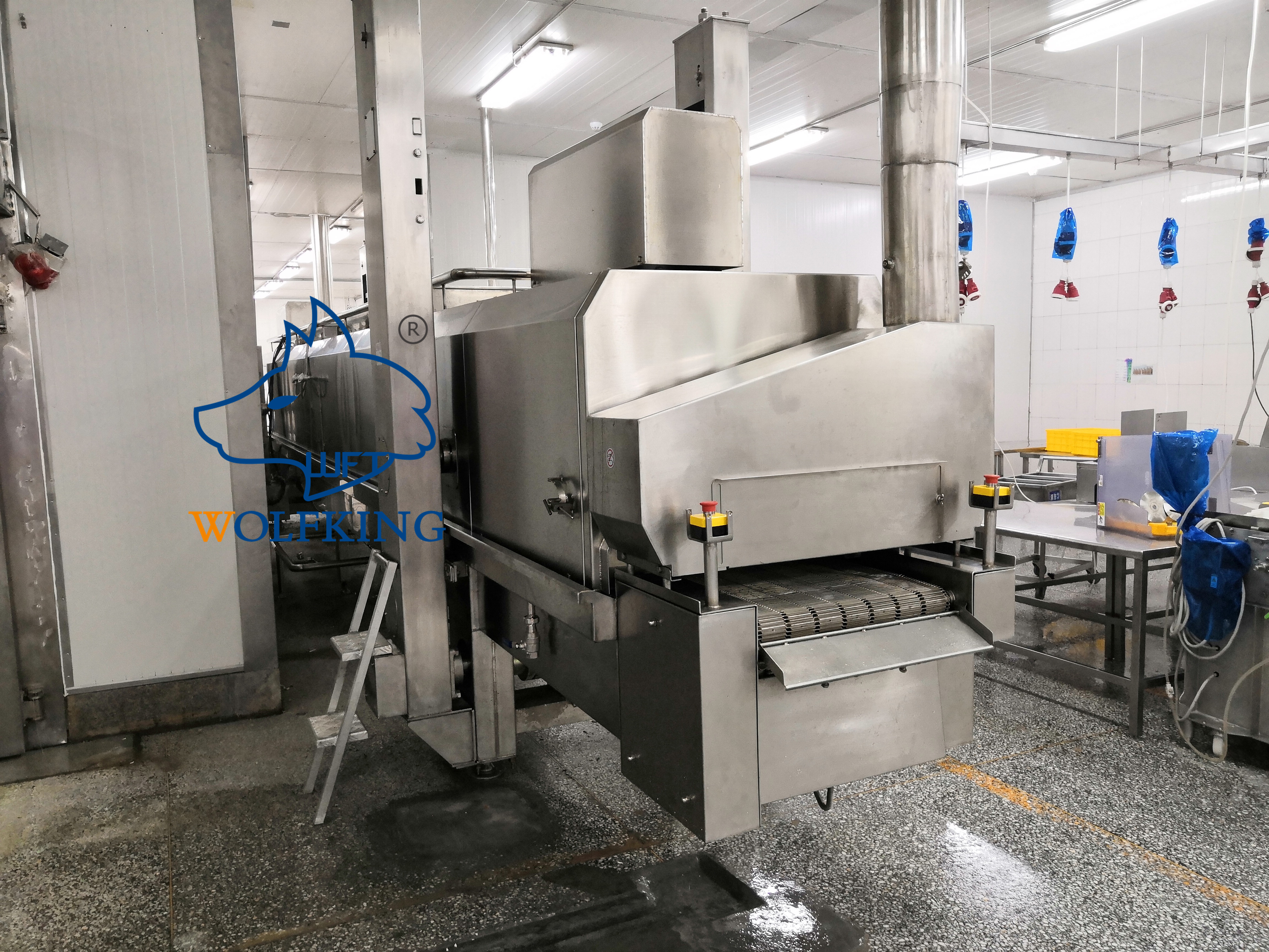 Easy To Clean And Maintain Production Line Hot Air Steam Cooking Oven