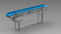 Linear Plastic Mesh Belt Conveyor
